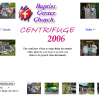 "View ""Baptist Center Church (BCC) website image slideshow screenshot"""