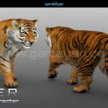 "View ""Modelado de personajes 3d Animal Tiger"""