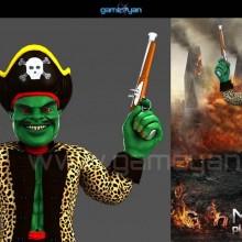 """View """"Misterf Piratas modelado de personajes"""""""