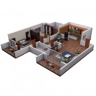 "View ""3D floor plan isometric view"""