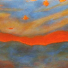 "View ""atmosphere (sunrise) no. 2,  acrylic on canvas,  24x30 inches,  2011-12"""